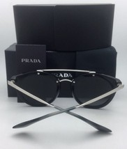 New PRADA Sunglasses SPR 23S 1AB-6N2 52-22 Black & Silver Frame w/ Silver Mirror