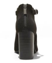 A New Day Kamari Noir Suédine Microfibre à Talon Ouvert Orteil Bottines 7US image 3