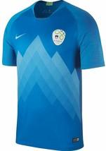 NEW Men's Nike Soccer Jersey 2018 Solvenia Away Blue Size XXL 2XL NEW $90 NWT - $74.99