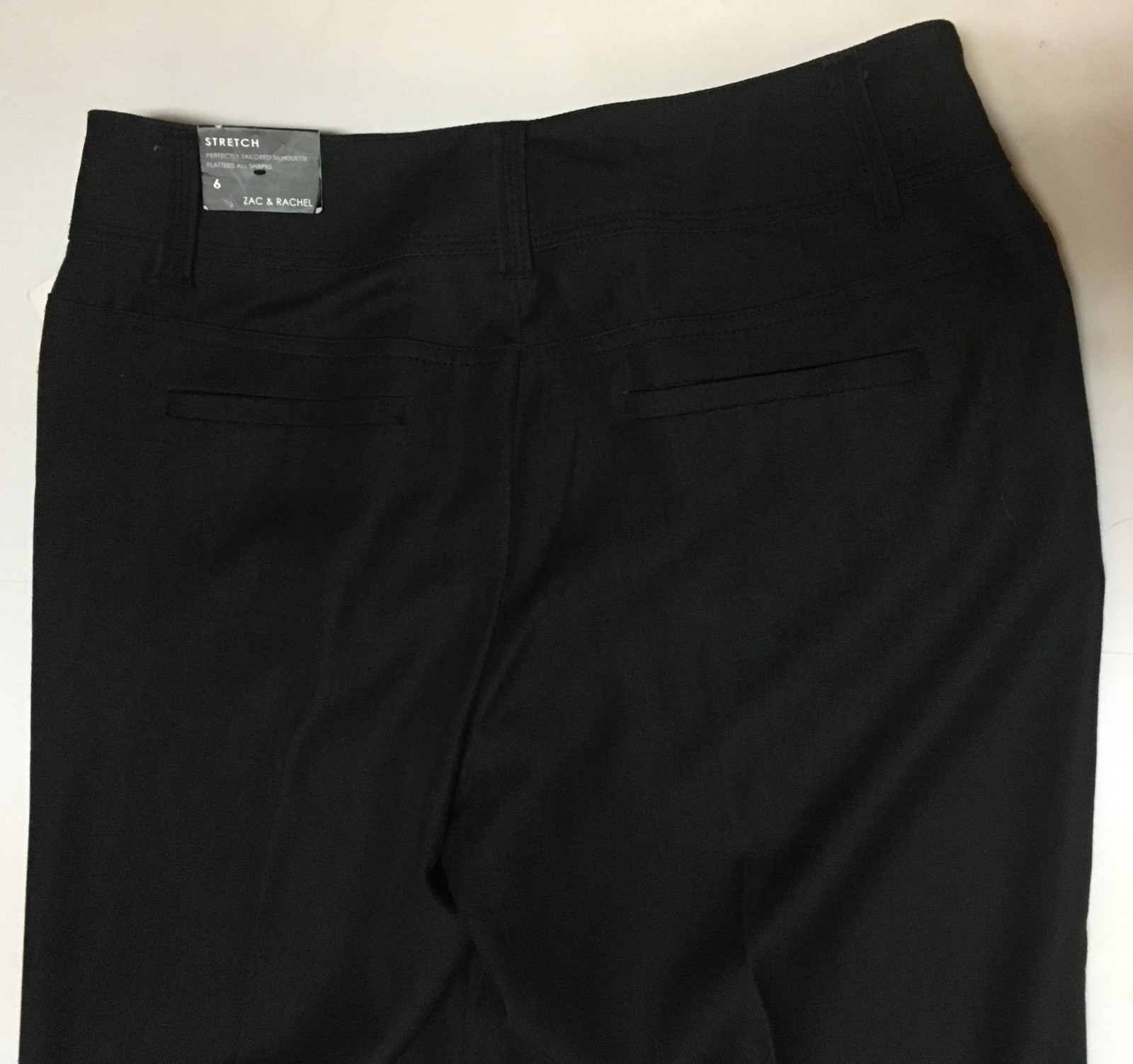 Zac & Rachel Onyx Dress Pants Sz 6 Stretch