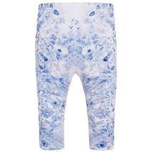 Mayoral Baby Girls Blue/White Floral Printed Leggings image 2