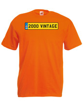 2000 Vintage Number Plate Birthday Graphic Quality t-shirt tee mens unisex - $13.44
