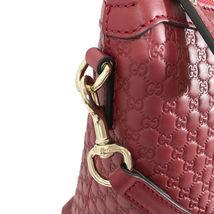 NEW GUCCI Microguccissima Leather Zip Top Crossbody Handbag image 9