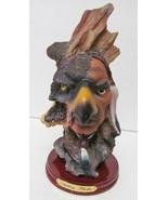 Ashley Belle Indian Warrior Hawk Eagle Resin Figure Figurine Sculpture A... - $46.83