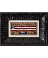 Owe Them All patriotic cross stitch chart Erica Michaels - $13.50