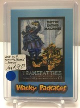 2018 TOPPS WACKY PACKAGES GO TO THE MOVIES - PATCH CARD #MP7 TRANSFATTIE... - $28.45
