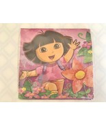 Dora The Explorer Floral 16 Ct 2 Ply Luncheon Birthday Tea Party Napkins - $7.70