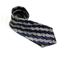 Surrey Men's Neck Tie Blue Gray Burgundy Polyester Classic #R21 - $10.88