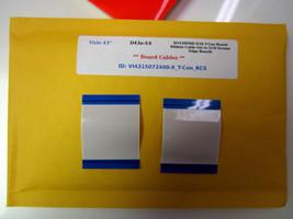 "Vizio 43"" D43n-E4 HV430FHB-N10 T-Con Board Ribbon Cable Set to LCD Screen Edge - $12.16"