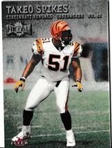 2000 Fleer Metal Takeo Spikes Football Trading Card #53 Cincinnati Bengals - $1.97