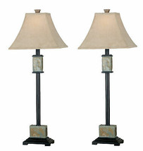 Kenroy Home Mid-Century Modern Lamp Sets, 32 Inch Height with Black Finish - $149.40