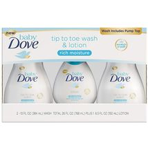 Baby Dove Tip to Toe Wash & Lotion 2 - 13 fl. oz./ 384 ml  & 1 - 6.5 oz ... - $22.99