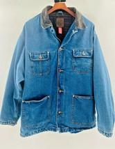 Gap Mens Denim Jacket Blue Pockets Long Sleeve Collared Lined  Button Vintage XL - $30.37