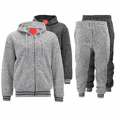 MX USA Casual Athletic Sweater Jogging Pants Fleece Gym Running Track Suit Set