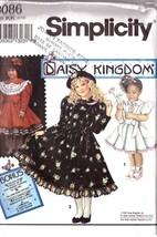UNCUT Simplicity Pattern 8086 Dress DAISY KINGDOM  - Child Sz KK (7,8,10... - $9.99
