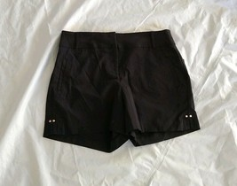 Thalia Sodi Women's Casual Walking Deep Black Shorts Size 8 - $28.04