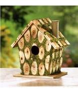 37921 Songbird Valley Charming Green Moss Bird Cottage - $7.18
