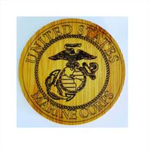 Coasters Set Military Seal Marines Set/4 W/Holder Bamboo Laser Engraved ... - $15.95