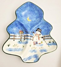 Baum Brothers Style Eyes Birdhouse Snowman Tree-Shaped 3 Sec Christmas P... - $20.74
