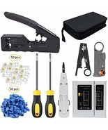 LEATBUY Crimping Tool Kit for RJ45/RJ11/RJ12/CAT5/CAT6/Cat5e/CAT6e/6P/8P... - $51.99