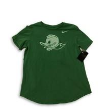 NWT New Oregon Ducks Nike Women's Apple Green Fluid Logo Puddles Large T... - $24.70