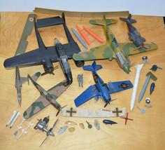 Vintage Military Plane Junkyard Model Parts Lot 1960s - 2000s - $46.14