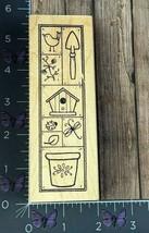 Great Impressions Gardening Birds Framed Border Rubber Stamp H106 Wood #... - $4.46