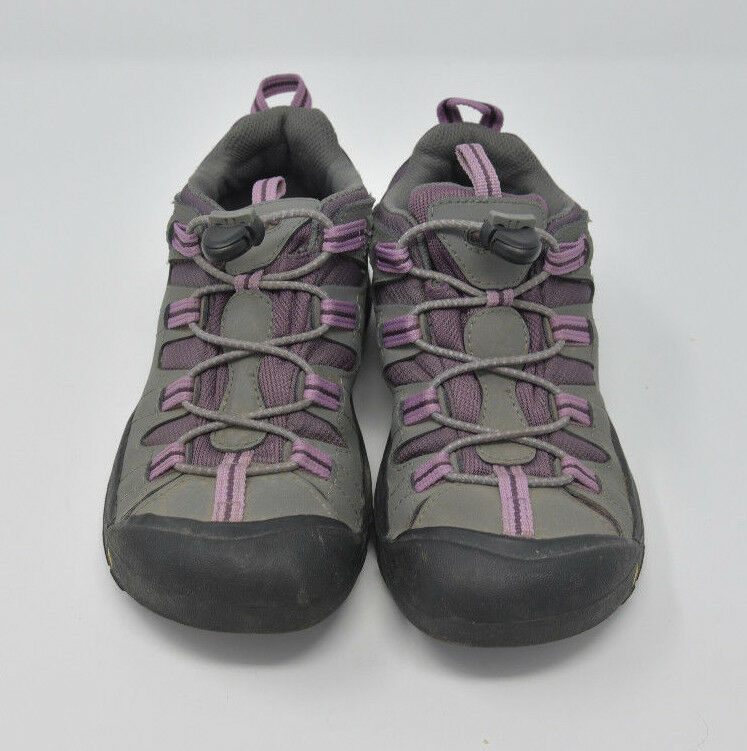 Keen Women's Sz 4 Gray Pink Bungee Strap Athletic Hiking Water Ready Trail Shoes image 4