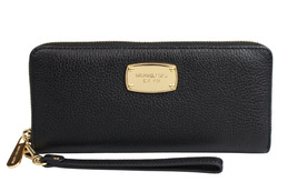 Michael Kors Jet Set Travel Leather Continental Wristlet Wallet NWT - $88.36