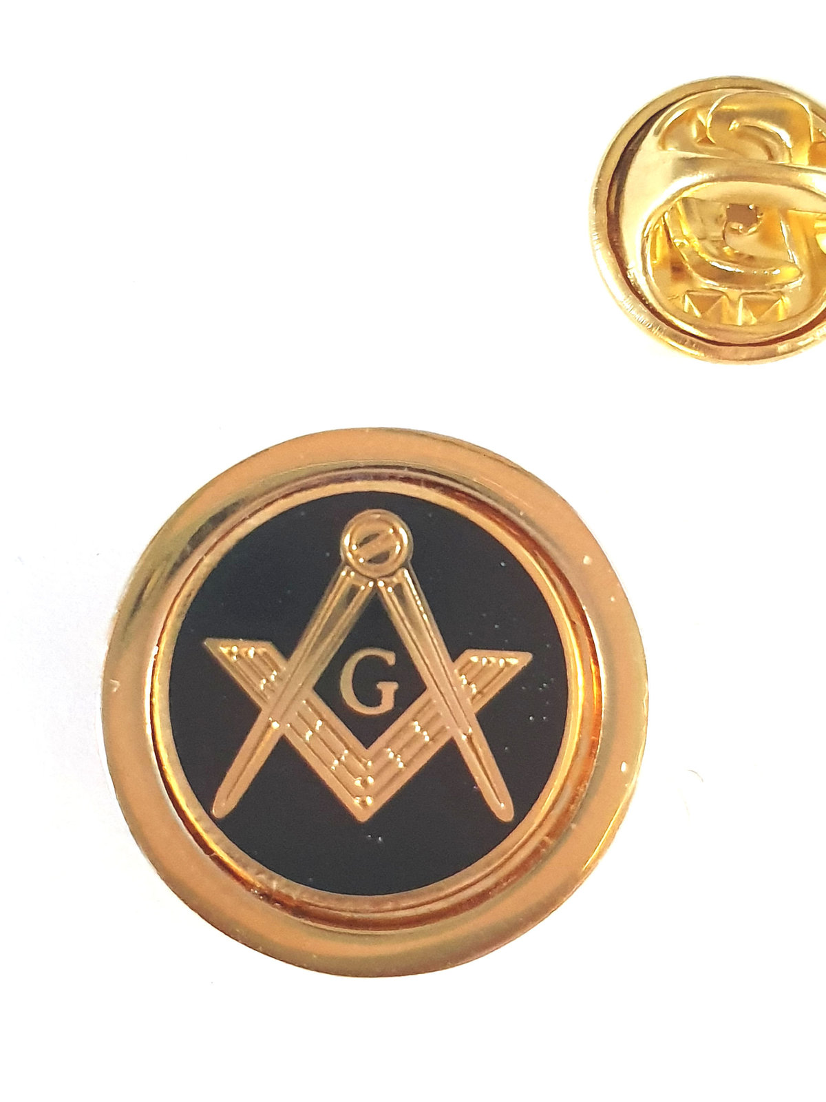 gold masonic with g Lapel Pin Badge / tie pin, Lapel Pin Badge gift boxed