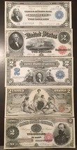 Reproduction Copy Set $2 Dollar Bills $2 1891-1918 United States Currency - $11.87