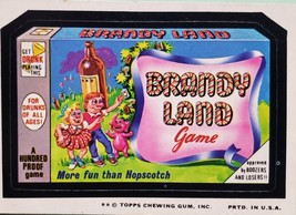 1974/ 6th S Topps Wacky Sticker Brandy Land Game More Fun Than Hopscotch - $1.95