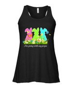 Im Going With My Peeps Flowy Racerback Tank Easter For Boys Girls Kids - $26.95