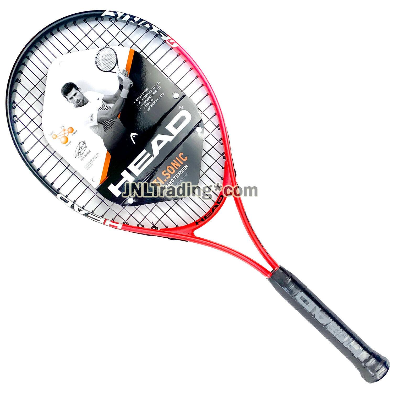 "Head TI. Sonic Adult Men Tennis Racket with 108"" Oversized Head (Grip: 4.5"") - $54.99"