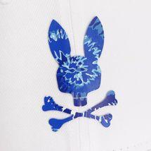 Psycho Bunny Men's Tie Dye Logo Strapback Sports Cranwich White Baseball Cap Hat image 3