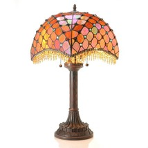 Tiffany-style Amber Beaded Table Lamp - $257.23