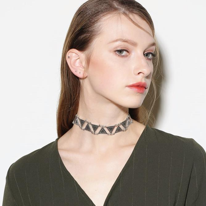 Triangle Geometric Choker Necklaces Personality Exaggerated Jewelry