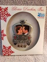 Christmas Tree Ornament Just Married Year 2018 Gloria Duchin Photo Pictu... - $5.99