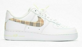 nike air force 1 white custom 'BB Plaid' avail in all size 7-13 100% authentic - $215.00