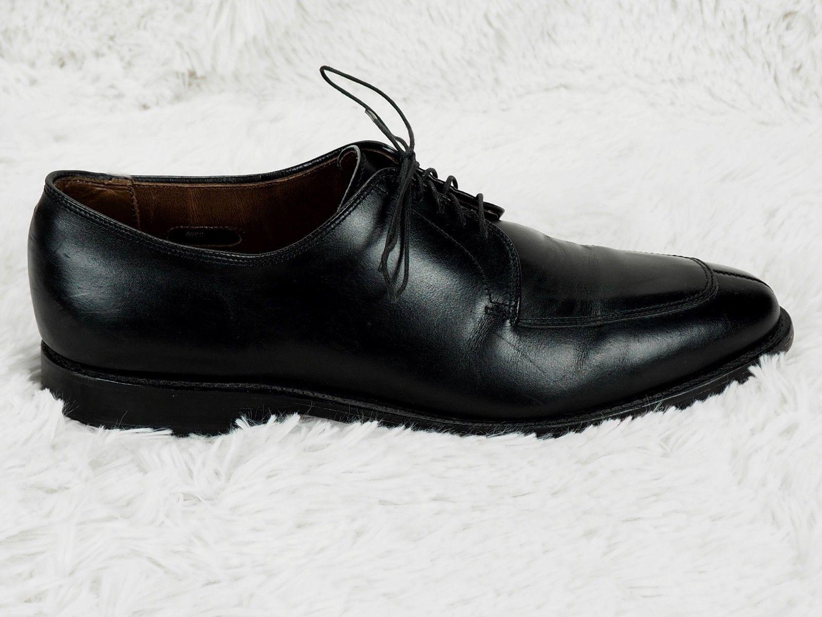 23fe355105a ALLEN EDMONDS  DELRAY  OXFORD DRESS SHOES MENS 10 C NARROW BLACK LEATHER ...