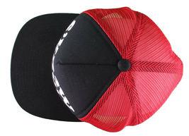 Kr3w Krew Black Red S'Kr3w You! FU Leather Strapback Trucker Baseball Hat NWT image 8