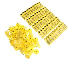 Walkingpround 100Pack Yellow 1-100 Number Plastic Livestock Ear Tag Anim... - $19.44