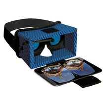 Smart Theater Virtual Reality Deluxe Cardboard Headset W/Adjustable Head... - $11.99
