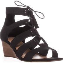 UGG Australia Yasmin Snake Wedge Gladiator Sandals, Black - $63.99