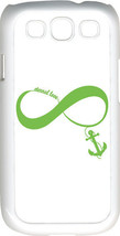 White & Light Green Infinity Symbol with Anchor Samsung Galaxy S3 Case Cover - $13.95
