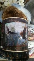 Eagles Flying High American Heritage Woodland Plush Raschel Throw blanket - $31.31 CAD