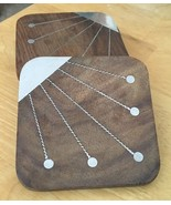 Wood w/ Inlay Metal Coasters - $11.29