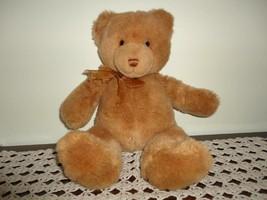 Gund TENDER TEDDY Bronze Plush Bear 16 inch 6415 Handmade 2001  - $86.85