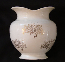 W.S. George vase with gold flower design - $19.50