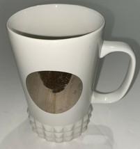 Starbucks Coffee 2014 Cup Mug White Studded Silver Mirror Dot Collection... - $10.35